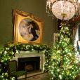 Melania Trump (Flotus) a supervisée la décoration de noël de la Maison Blanche à Washington le 29 novembre 2020.