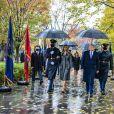 Le président des Etats-Unis Donald Trump, sa femme Melania Trump, lors de la journée des vétérans au cimetière d'Arlington en Virginie le 11 novembre 2020.