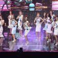Les 29 Miss régionales en top et jupe midi sur le thème de la gourmandise - élection de Miss France 2021 du 19 décembre sur TF1 - élection de Miss France 2021 du 19 décembre sur TF1
