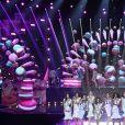 Les 29 Miss régionales en top et jupe midi sur le thème de la gourmandise - élection de Miss France 2021 du 19 décembre sur TF1- élection de Miss France 2021 du 19 décembre sur TF1