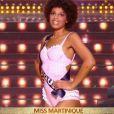 Séphorah Azur (Miss Martinique) lors du défilé en maillot de bain, lors de l'élection Miss France 2021 le 19 décembre 2020 sur TF1
