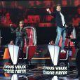 Florent Pagny, Amel Bent, Vianney et Marc Lavoine dans leurs fauteuils rouges de coachs de The Voice 2021.
