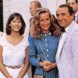 """Sophie Marceau, Brigitte Fossey et Claude Brasseur sur le tournage du film """"La Boum 2 (1982) © Imago / Panoramic / Bestimage"""