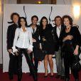 Stéphane Bern, Déborah, Léo et Emilie de Secret Story, Bernard Montiel et Claudia Cardinale au 16ème concert annuel Faire Face pour venir en aide aux enfants atteints du SIDA à l'Opéra d'Avignon le 10 octobre 2009