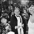 Pierre Cardin et Monique Raimond au Festival de Cannes en 1979.