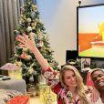 Paul Pogba et son épouse Zulay Pogba fêtent Noël. Décembre 2020.