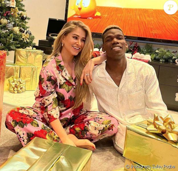 Paul Pogba et son épouse Zulay Pogba fêtent Noël.