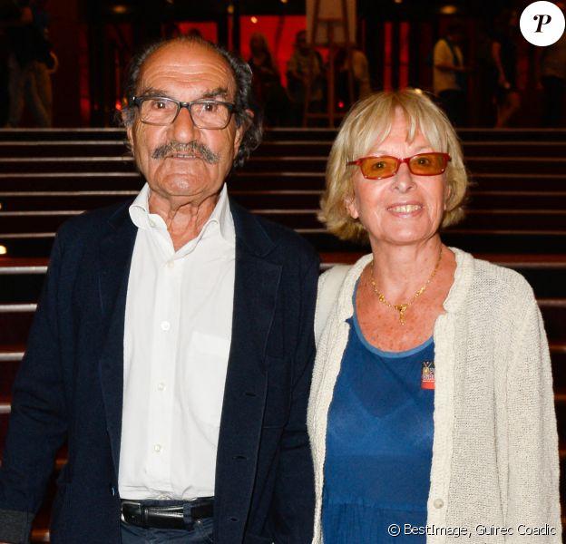 Gérard Hernandez et sa femme Micheline - ''Le Point Virgule fait l'Olympia'' fête son 10ème anniversaire à l'Olympia de Paris. © Guirec Coadic/Bestimage