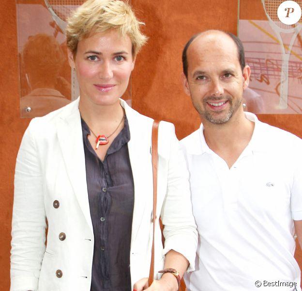 Maurice Barthélémy et Judith Godrèche à Roland Garros.