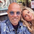 Pascal Obispo et sa compagne Julie sur Instagram. Le 26 juillet 2020.