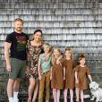 L'influence américaine Emily Mitchell en famille sur Instagram, juin 2020.