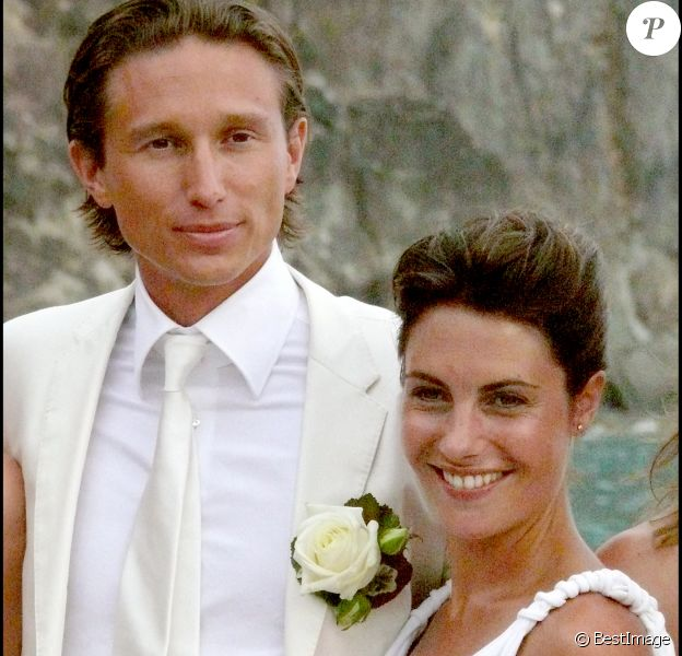 Mariage religieux d'Alessandra Sublet et Thomas Volpi en 2008 à Saint-Barthélémy