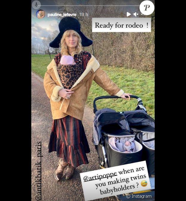 Pauline Lefèvre et ses jumeaux sur Instagram, janvier 2021.