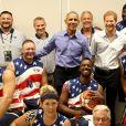 Joe Biden, Jill Biden, Barack Obama et le prince Harry posent avec la team USA - Invictus Game 2017 à Toronto, le 29 septembre 2017.