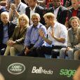 Joe Biden, Jill Biden, Barack Obama et le prince Harry dans les tribunes des Invictus Game 2017 à Toronto, le 29 septembre 2017.