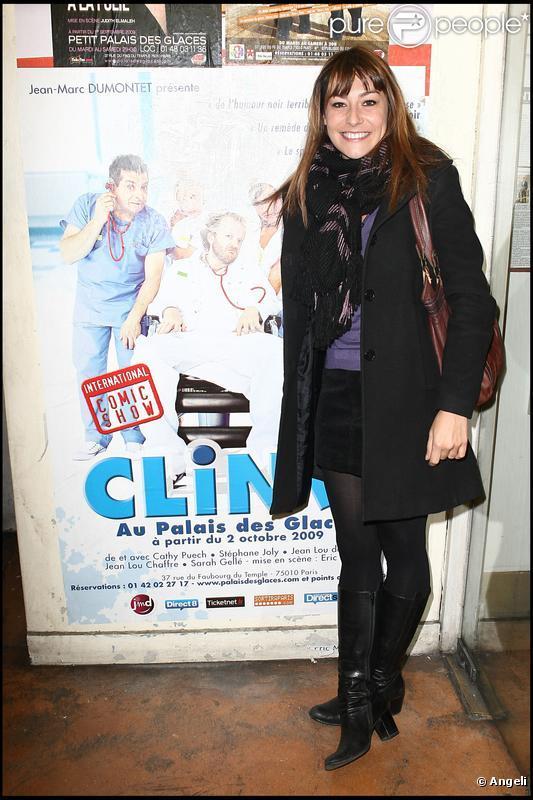 Shirley Bousquet à la générale du spectacle Clinic. 15/10/09