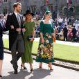 Eliza Spencer, Louis Spencer, Victoria Aitken et Kitty Spencer - Les invités arrivent à la chapelle St. George pour le mariage du prince Harry et de Meghan Markle au château de Windsor, Royaume Uni, le 19 mai 2018.