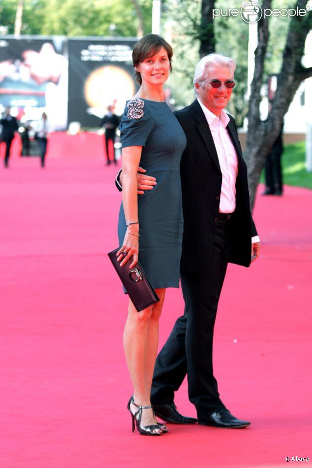 Richard Gere et sa femme Carey Lowell lors du festival du film de Rome le 16 octobre 2009
