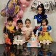 Georgina Rodriguez et ses enfants Mateo, Cristiano Jr, Alana et Eva.