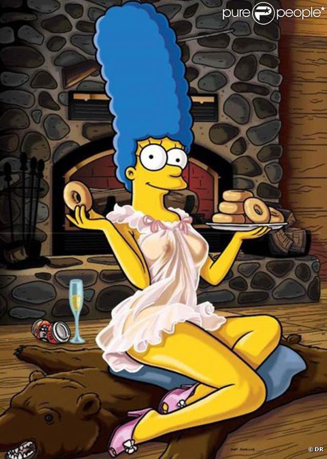 La très sexy Marge Simpson dans Playboy... Vous prendrez bien un donut ?