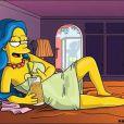 La très sexy Marge Simpson s'allonge dans Playboy !