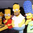 Les Simpsons au grand complet, à l'occasion de leurs 20 ans, à Santa Monica, le 18 octobre 2009 !