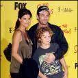 Luke Perry en famille, à l'occasion des 20 ans de la série animée  Les Simpsons , à Santa Monica, le 18 octobre 2009 !
