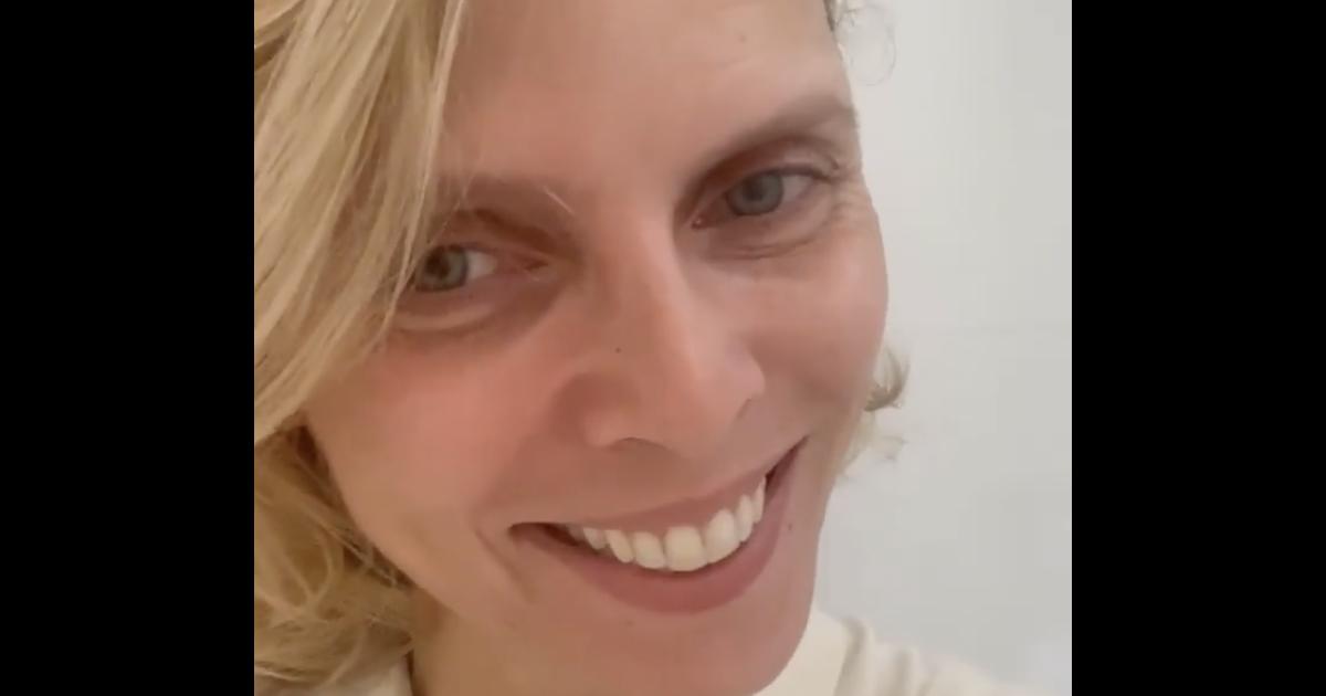 Sylvie Tellier sans maquillage et avec des cernes :