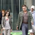 Leonardo DiCaprio et Ellen Page sur le tournage d'Inception à Los Angeles le 19 octobre 2009