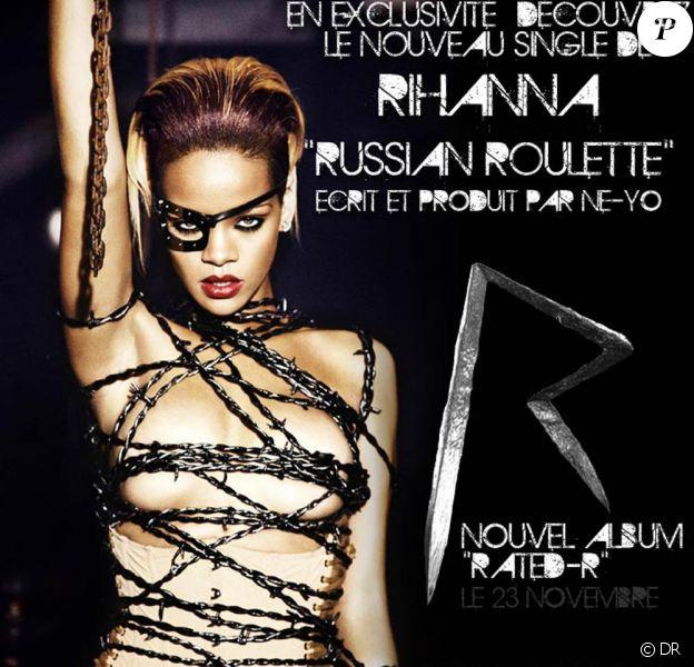Rihanna dévoile le premier single de Rated-R : Russian Roulette