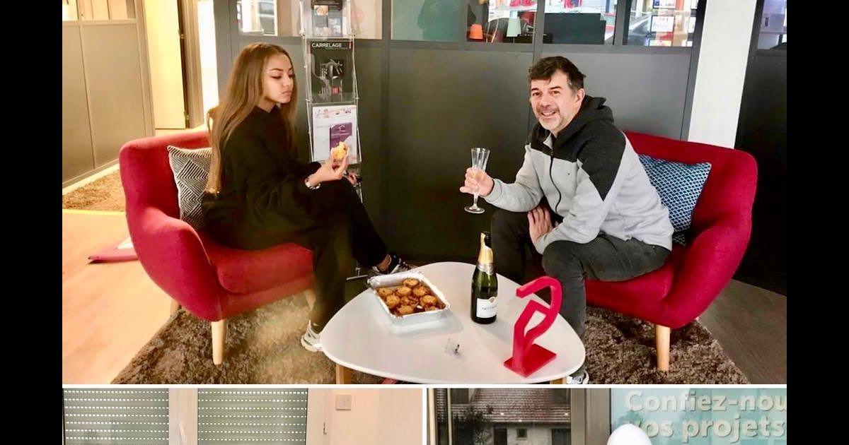 Stéphane Plaza et Wejdene : Leur amitié improbable fructueuse, succès fêté au champagne - Pure People