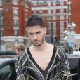 Baptiste Giabiconi au défilé de mode prêt-à-porter automne-hiver 2020/2021 Balmain à Paris le 28 février 2020.