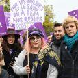 Marilou Berry et Anne Richard - De nombreuses artistes et personnalités marchent contre les violences sexistes et sexuelles (marche organisée par le collectif  NousToutes) de place de l'Opéra jusqu'à la place de la Nation à Paris le 23 Novembre 2019 © Coadic Guirec / Bestimage