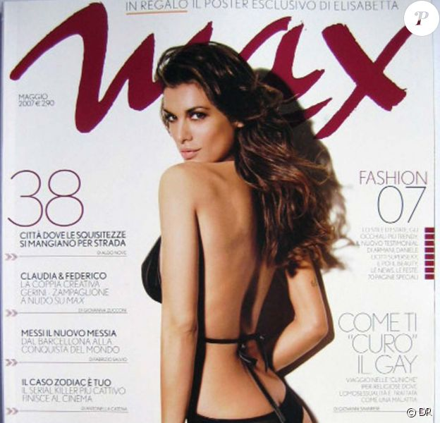Elisabetta Canalis... en une de Maxim