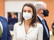 Letizia d'Espagne : Reine masquée et angélique en robe blanche, avec le roi Felipe
