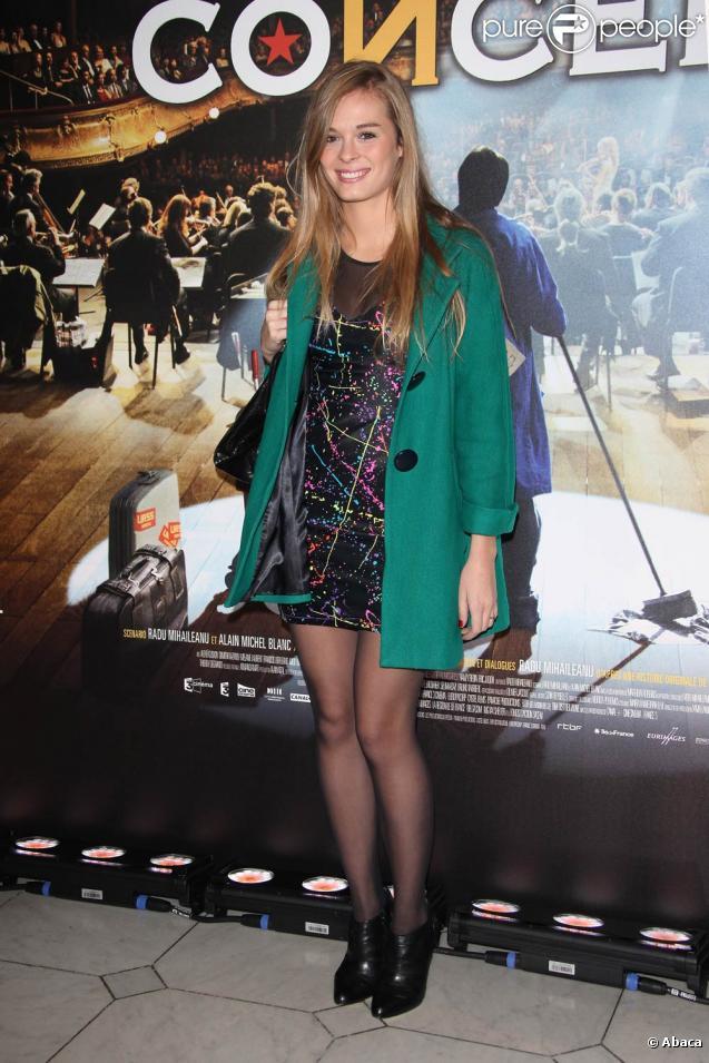Alice Raucoules à la première du film Le Concert le 23 octobre 2009 au théâtre du Chatelet à Paris