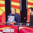 """Exclusif - Laurent Ruquier et Amir Haddad - Enregistrement de l'émission """"Les Grosses Têtes"""". Le 8 décembre 2020. © Jack Tribeca / Bestimage"""