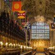 La chapelle du château de Windsor où aura lieu le mariage - Illustration sur le château de Windsor où le prince Harry et Meghan Markle vont se marier le 19 mai 2018 à Windsor le 11 février 2018