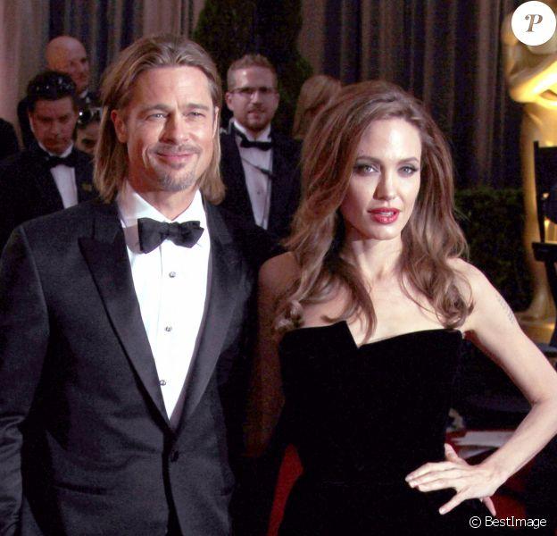 Brad Pitt et Angelina Jolie à la 84e cérémonie des Oscars