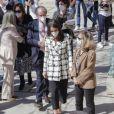 """La reine Letizia d'Espagne assiste à la présentation des lauréats de la """"Princess of Girona Foundation Award 2021"""" dans la catégorie """"Business"""" à Tolède, le 17 mars 2021."""