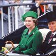 La reine Elizabeth II et le prince Philip en 1988.