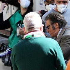 """Al Pacino sur le tournage d'une scène du film """"Gucci"""" à Rome, Italie, le 31 mars 2021."""