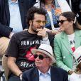 Amir Haddad et sa femme Lital - People dans les tribunes lors de la finale messieurs des internationaux de France de tennis de Roland Garros 2019 à Paris le 9 juin 2019. © Jacovides-Moreau/Bestimage