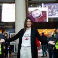 """Laura Pausini présente son dernier album """"Fatti sentire ancora"""" à Milan, Italie, le 15 décembre 2018."""