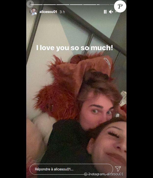 Alice Attal et son petit-ami River sur Instagram, le 23 avril 2021.