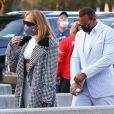 Exclusif - Jennifer Lopez et Alex Rodriguez arrivent pour le Super Bowl 2021 au Raymond James Stadium de Tampa, le 7 février 2021.