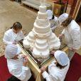 Le gâteau de mariage du prince William et Kate Middleton au palais de Buckingham, le 29 avril 2011.