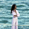 Selita Ebanks, à l'occasion d'un shooting sur une plage de Miami, en octobre 2009.
