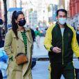 Katie Holmes fait une sortie shopping avec son compagnon Emilio Vitolo Jr. à New York, le 9 mars 2021.