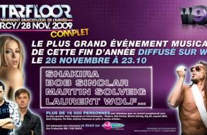 Shakira rejoint les DJ stars Bob Sinclar, Laurent Wolf et Martin Solveig... pour une nuit caliente !